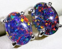 Gem Opal Triplet Earring plus matching pendant SB 186