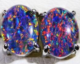 Gem Opal Triplet Earring SB 190