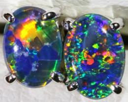 Gem Opal Triplet Earring SB 192