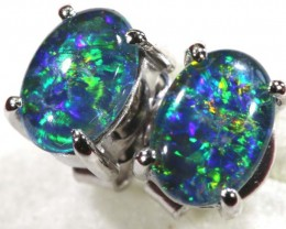 8.05 CTS TRIPLET OPAL SILVER EARRINGS OF-1502