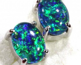 8.35 CTS TRIPLET OPAL SILVER EARRINGS OF-1502