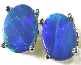 6.30 CTS DOUBLET OPAL SILVER EARRINGS OF-1511