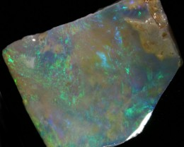 17.65 CTS CLEAN PRE SHAPED CRYSTAL  OPAL  ROUGH -LIGHTNING RIDGE [BR4708]