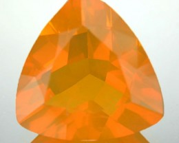 3.73 Cts Natural Mexican Orange Fire Opal Trillion Faceted