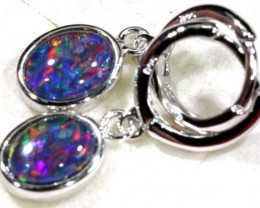 12.30 CTS TRIPLET OPAL SILVER EARRINGS OF-1513