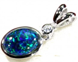 5.70 CTS TRIPLET OPAL SILVER PENDANT  OF-1519
