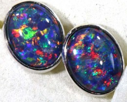 9.10 CTS TRIPLET OPAL SILVER EARRINGS  OF-1525