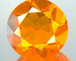 2.59 Cts Natural Mexican Orange Fire Opal Round Faceted NR