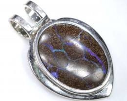 BOULDER OPAL PENDANT WITH SILVER BALE 61.35 CTS OF-1532