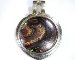 BOULDER OPAL PENDANT WITH SILVER BALE 64.60 CTS OF-1535
