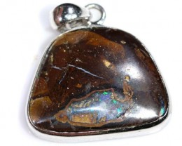 BOULDER OPAL PENDANT WITH SILVER BALE 23.30 CTS OF-1538