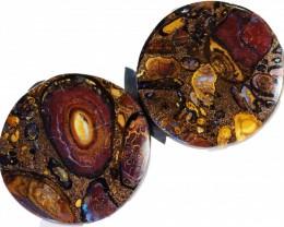178.20 Cts Pair Koroit opals  BU 2270