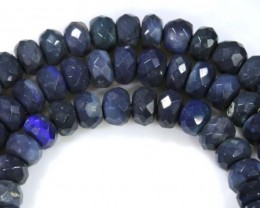 74.15 CTS BLACK OPAL BEADS STRAND TBO-4981