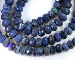 53.90 CTS BLACK OPAL BEADS STRAND TBO-4983