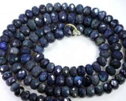 66.20 CTS BLACK OPAL BEADS STRAND TBO-4986