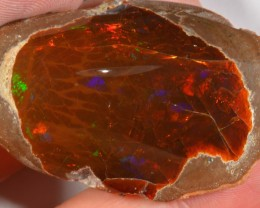 133.3 CT POLISHED MEZEZO OPAL SPECIMEN