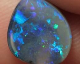 Lightning Ridge Solid Black Opal Stone 1.49ct