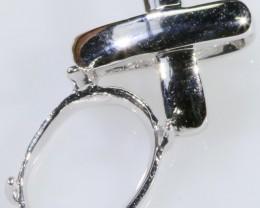 18ct New white Gold pendant setting SB 234