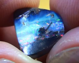 4.60 ct Gem Multi Color Opalised Wood Koroit Boulder Opal