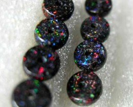 QUALITY FAIRY OPAL MATRIX BUTTON BEADS 8 PCS (FBB8)