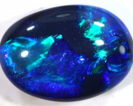 N1- 2.75 cts BLACK Lightning Ridge Opal Cut Stone C-388