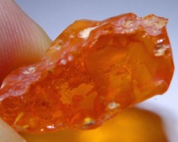 12.45Carats-Nice Brilliant AAA/TOP Clean Rough Mexican Fire Opal Crystal