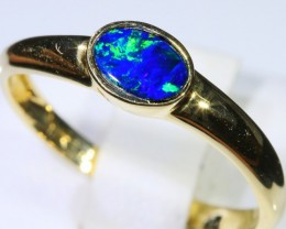 Gem Opal Doublet Ring in 14K Gold SB 260