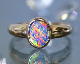 Gem Opal Doublet Ring in 14K Gold SB 261