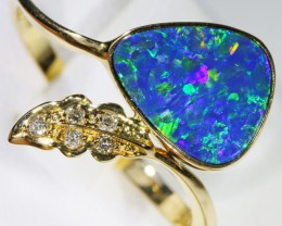 Gem Opal Doublet Ring in 14K Gold SB 263