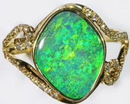 Gem Opal Doublet Ring in 14K Gold SB 266