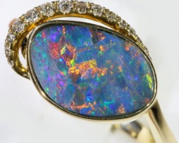 Gem Opal Doublet Ring in 14K Gold SB 281
