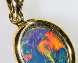 Gem Opal Doublet Pendant in 14K Gold SB 271