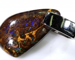 BOULDER OPAL PENDANT WITH SILVER BALE 25.05 CTS OF-1544