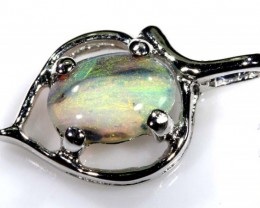 OPAL PENDANT 18K SOLID GOLD/SOLID STONE 3.5 CTS  OF-1549