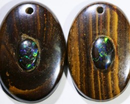 15.13 CTS BOULDER OPAL PAIR DRILLED [SO7240]