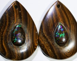 18.33 CTS BOULDER OPAL PAIR DRILLED [SO7243]