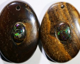14.65 CTS BOULDER OPAL PAIR DRILLED [SO7250]