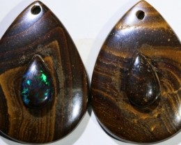 18.51 CTS BOULDER OPAL PAIR DRILLED [SO7253]