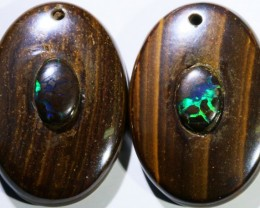 16.90 CTS BOULDER OPAL PAIR DRILLED [SO7254]