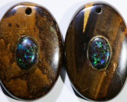 15.72 CTS BOULDER OPAL PAIR DRILLED [SO7255]