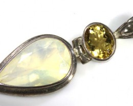 47CTS SILVER SOLID OPAL-CITRINE PENDANT  OF-1552