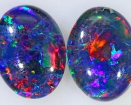 1.9  Cts  AAA Pair Gem Australian Triplet Opals BU2382