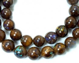 415 CTS BOULDER OPAL BEADS OVAL DRILLED TBO-5009