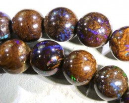 357.50 CTS BOULDER OPAL BEADS OVAL DRILLED TBO-5010