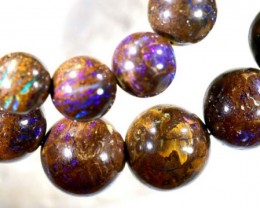 357.5 CTS BOULDER OPAL BEADS OVAL DRILLED TBO-5011