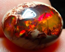 $1 NR Auction 8.47ct Mexican Matrix Cantera Multicoloured Fire Opal