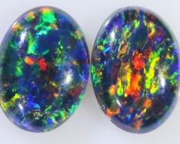 1.25 Cts  AAA Pair Gem Australian Triplet Opals BU2407