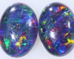 1.25 Cts  AAA Pair Gem Australian Triplet Opals BU2422