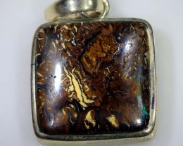 73 CTS BOULDER OPAL STERLING SILVER PENDANT OF-1598