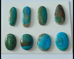 8 PCS Natural Blue Opal Gemstone Cabochons,108ct